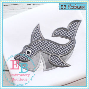 Shark 3 Applique - embroidery-boutique