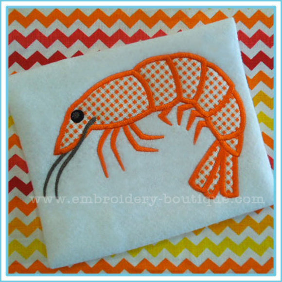 Shrimp 2 Applique, Applique