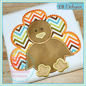 Dotted Simple Boy Turkey Applique - embroidery-boutique