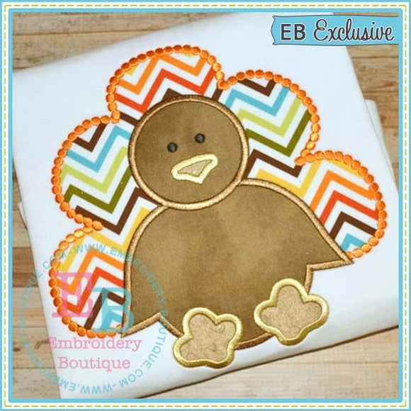 Dotted Simple Boy Turkey Applique