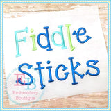Fiddle Sticks Embroidery Font-Embroidery Boutique