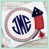 Firework Monogram Applique - Embroidery Boutique
