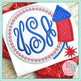 Firework Monogram Applique, Applique