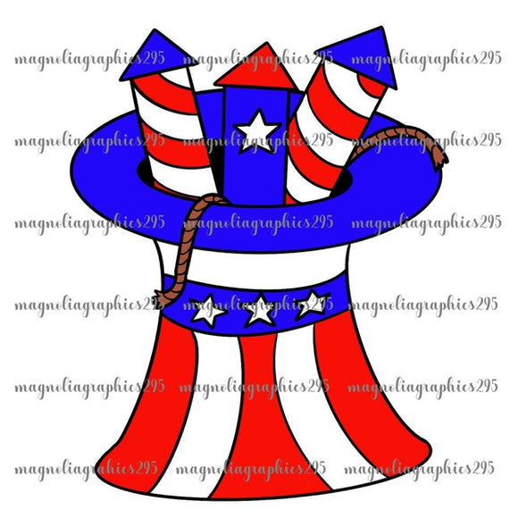 4th of July Hat Printable Design PNG, Printable