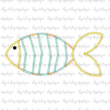 Fish 1 Zig Zag Stitch Applique Design-Embroidery Boutique