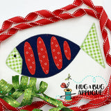Fish 2 Zig Zag Stitch Applique Design-Embroidery Boutique