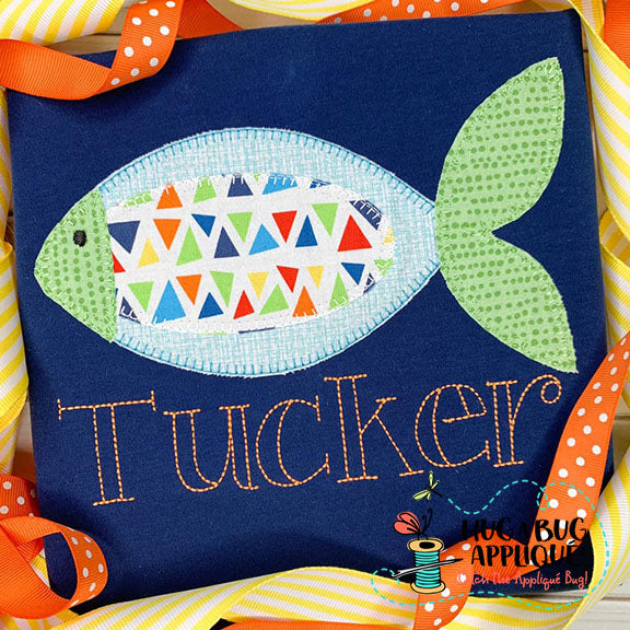 Fish 3 Blanket Stitch Applique Design