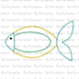 Fish 3 Zig Zag Stitch Applique Design-Embroidery Boutique