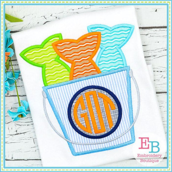 Fish Bucket Satin Applique