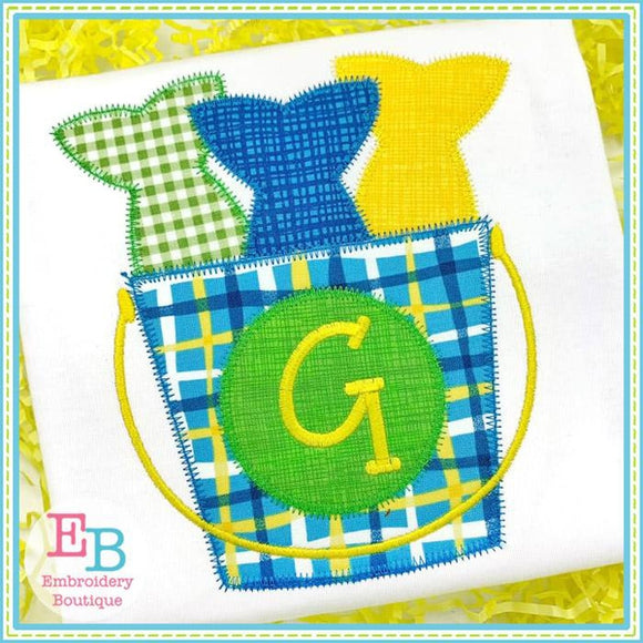 Fish Bucket Zigzag Applique, Applique