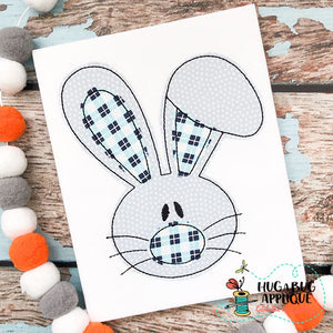 Flop Ear Head Bean Stitch Applique Design-Embroidery Boutique