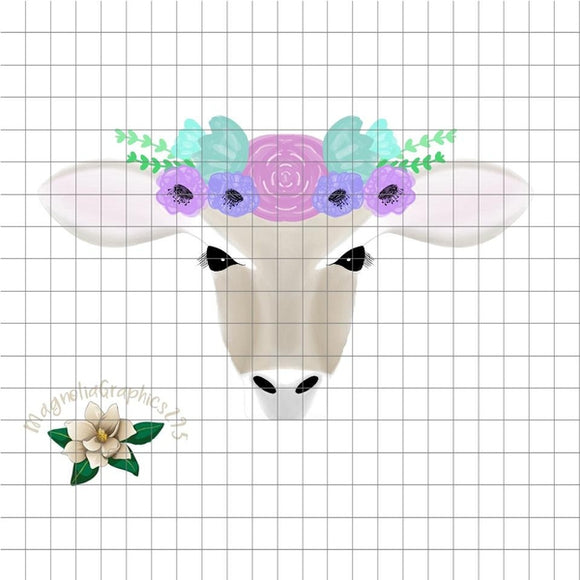 Floral Cow PNG Printable Design