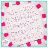 Flossed Sugar Embroidery Font-Embroidery Boutique