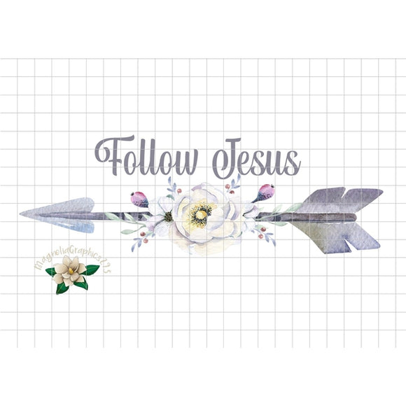 Follow Jesus Printable Design - embroidery-boutique