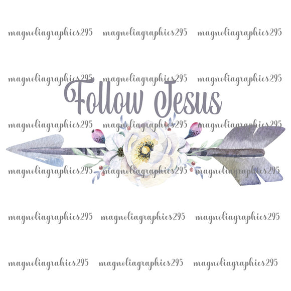 Follow Jesus Printable Design PNG