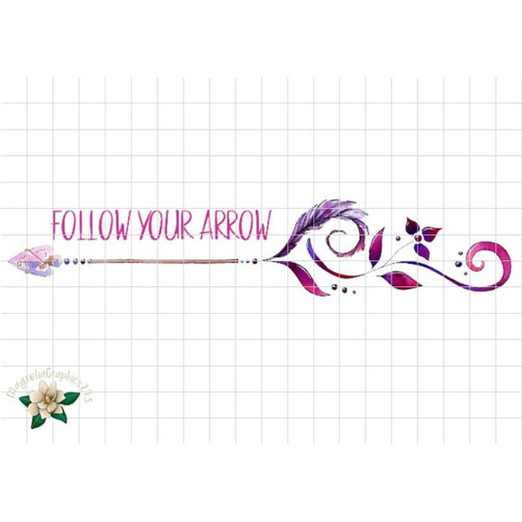Follow Your Arrow Printable Design - embroidery-boutique