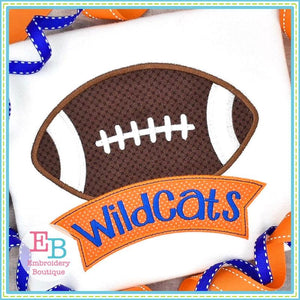 Football Banner Satin Applique, Applique