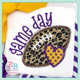 Game Day Heart Applique, Applique