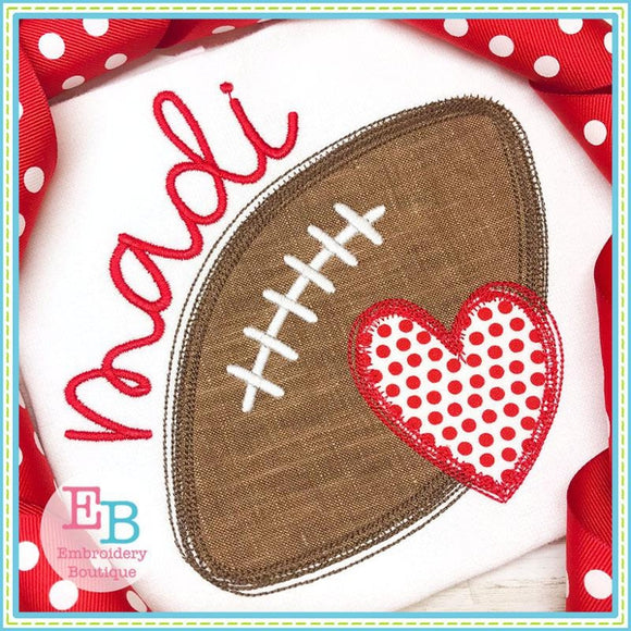 Game Day Heart Applique