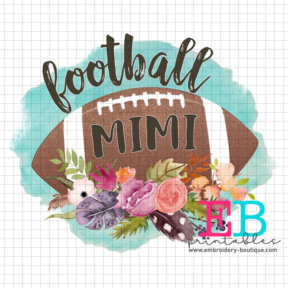 Football Mimi Printable Design PNG - embroidery-boutique