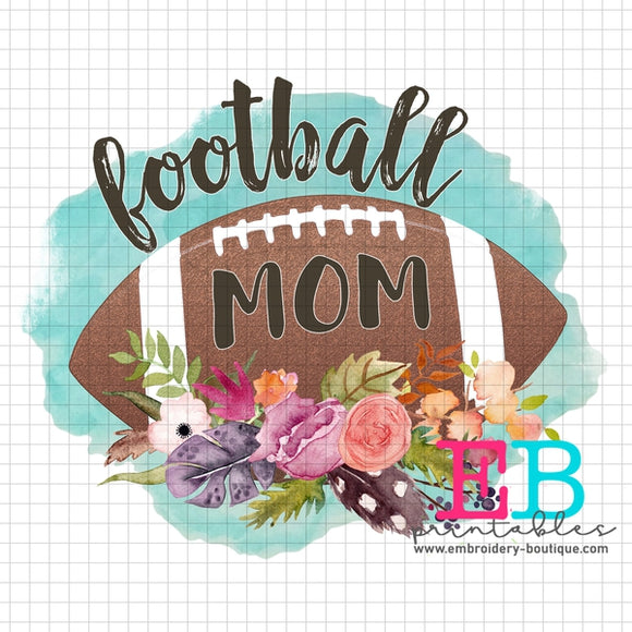 Football Mom Printable Design PNG