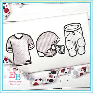Football Uniform Trio Design, Embroidery