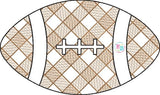 Football Plaid Sketch Sketch Embroidery Design, Embroidery