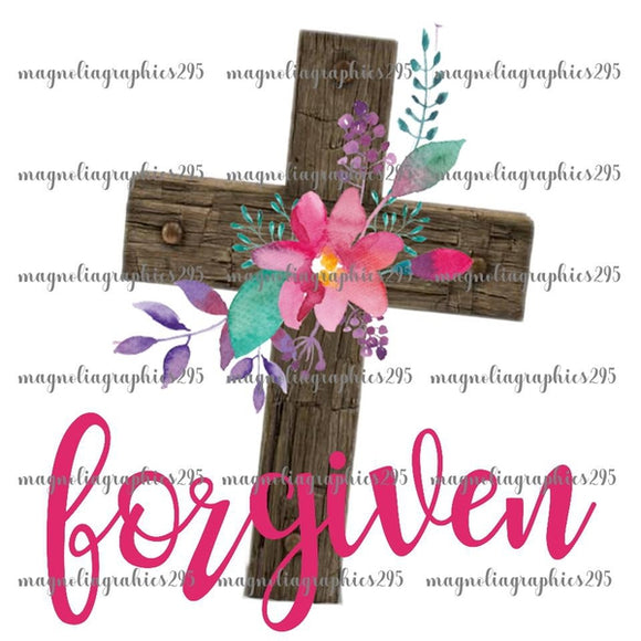 Forgiven Printable Design PNG, Printable