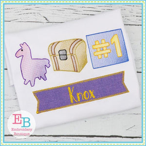 Fort Llama Sketch Design - embroidery-boutique