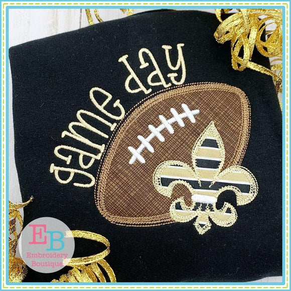 Game Day Fleur De Lis Applique