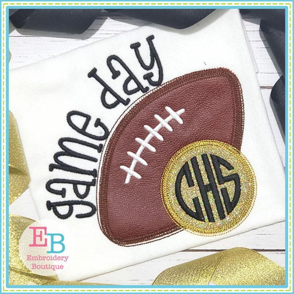 Game Day Circle Applique