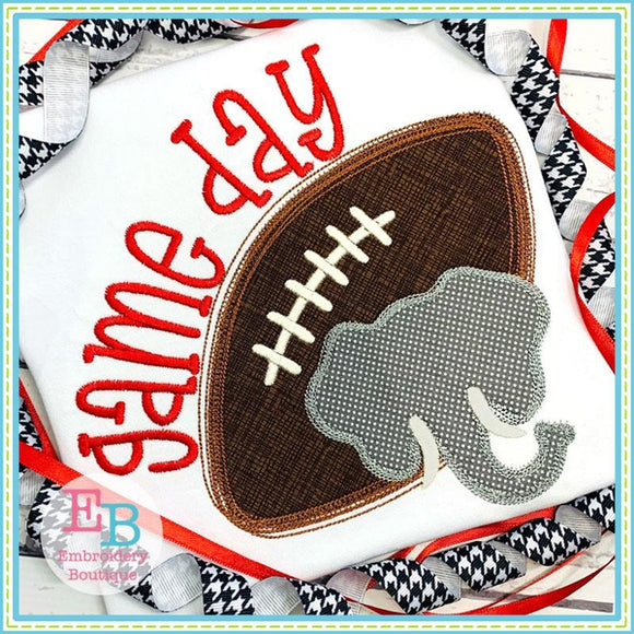 Game Day Elephant Applique, Applique