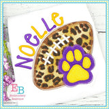 Game Day Paw Applique, Applique