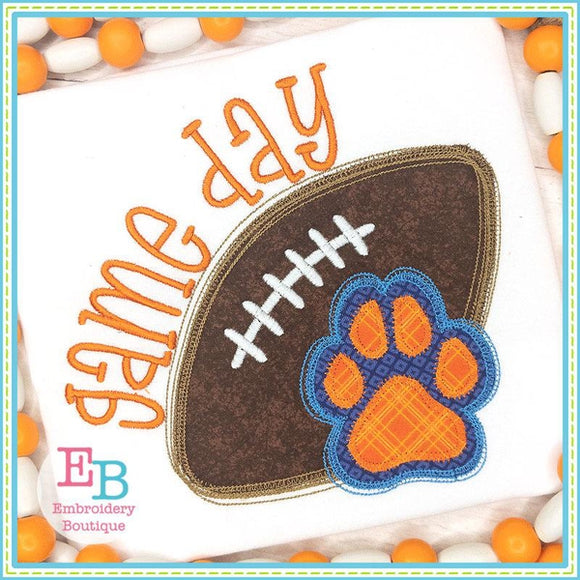 Game Day Paw Applique