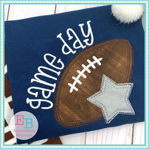 Game Day Star Applique