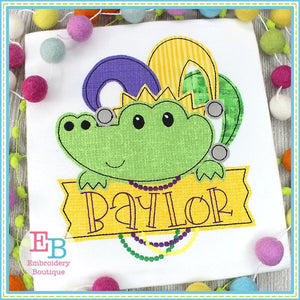 Gator Banner Applique, Applique