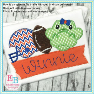 Gator Helmet Applique - Embroidery Boutique
