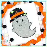 Ghost Hat Zigzag Stitch Applique, Applique
