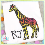 Giraffe Silhouette Applique, Applique