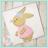 Bunny Girl 2 Applique - Embroidery Boutique