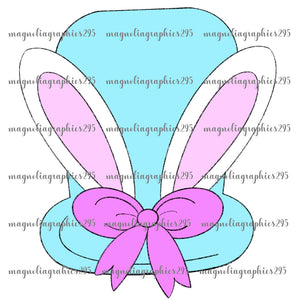 Girl Bunny Hat Printable Design PNG-Embroidery Boutique