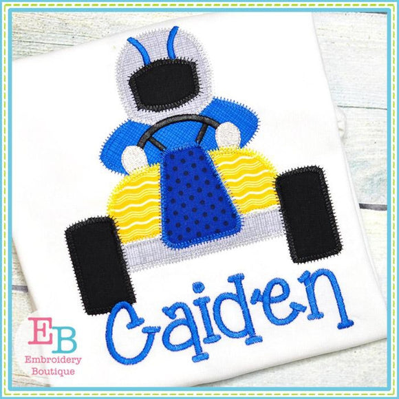 Go Kart Zigzag Applique, Applique