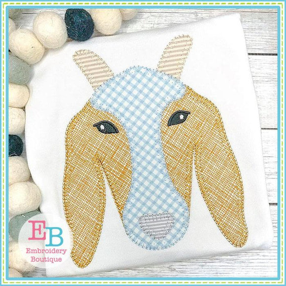 Goat Blanket Stitch Applique - Embroidery Boutique