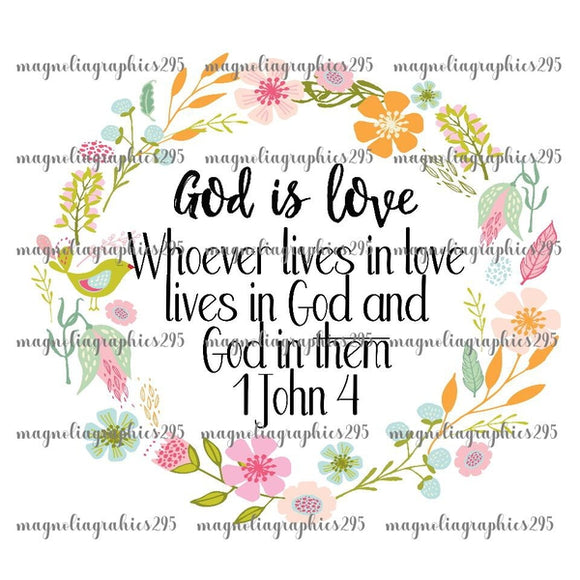 God is love Printable Design PNG, Printable