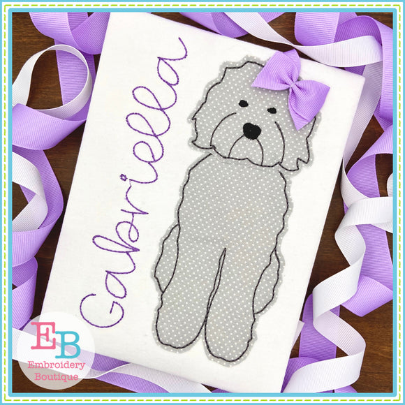 Doodle Bean Applique-Embroidery Boutique