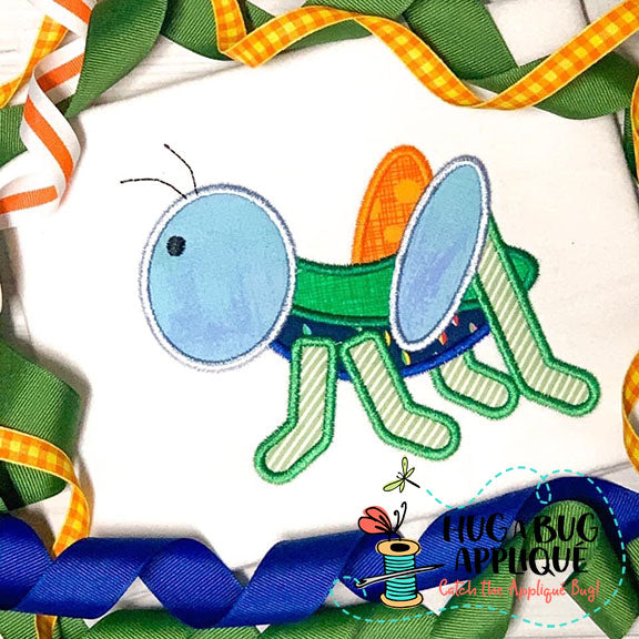 Grasshopper Satin Stitch Applique Design, Applique