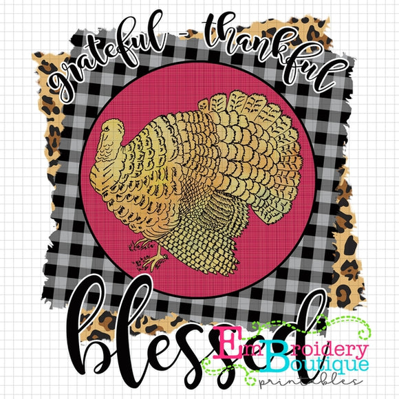 Grateful Printable Design PNG - embroidery-boutique