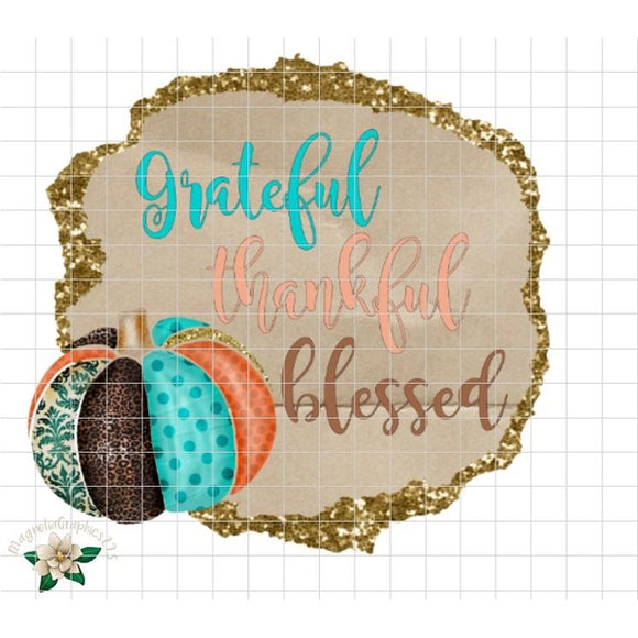 Grateful, Thankful, Blessed Printable Design