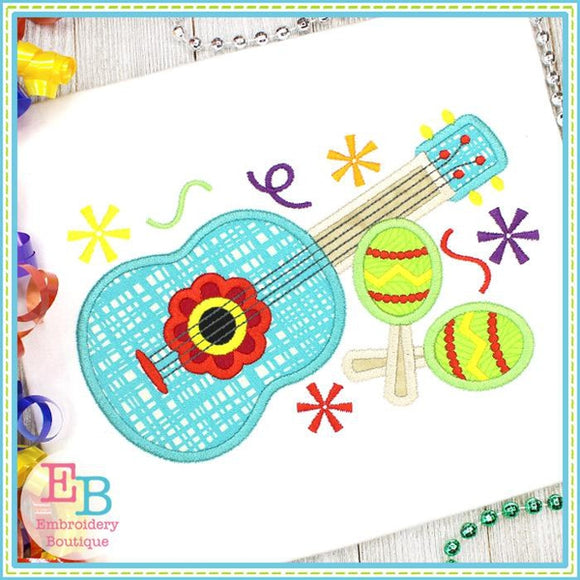 Guitar and Maracas Applique