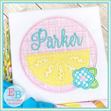 Lemon Circle Satin Applique